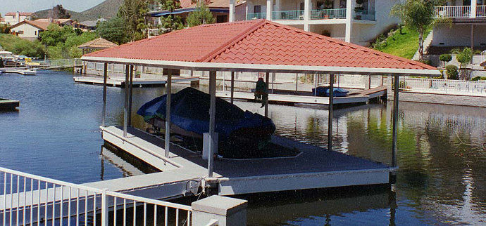 Dock Shelters Boat Canopies : Your boat dock is an extension of home or property